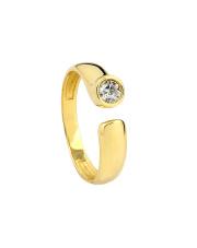 Złoty pierścionek z cyrkonią - pr. 585