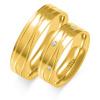 Złote obrączki z cyrkoniami - pr.585