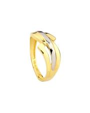 Złoty pierścionek z rodowaniem - pr. 585