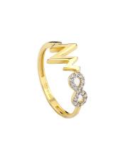 Złoty pierścionek z nieskończonością pr. 585
