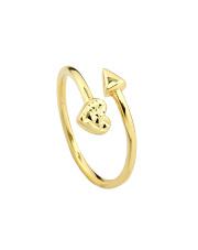 Złoty pierścionek  z sercem- pr. 585