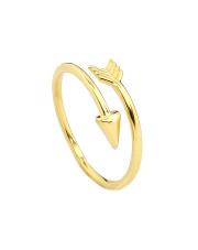 Złoty pierścionek ze strzałką - pr. 585