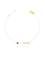 Złota bransoletka celabrytka  z symbolem nieskończoności - pr. 585
