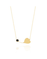 Złoty naszyjnik celebrytka z sercem - pr. 585