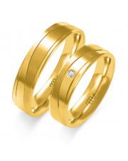 Złote obrączki z cyrkonią - pr. 585