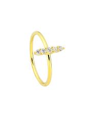Pozłacany pierścionek z cyrkoniami - pr.925