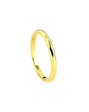 Pozłacany pierścionek obrączka - pr. 925