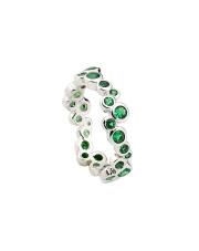 Srebrny pierścionek z kolorowymi kamieniami - pr.925
