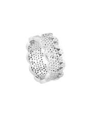 Srebrny pierścionek obrączka z cyrkoniami - pr. 925