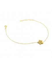 Złota bransoletka celebrytka  z gwiazdką - pr. 585