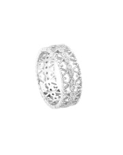 Srebrny pierścionek obrączka z cyrkoniami - pr.925