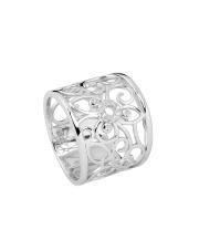 Srebrny pierścionek ażurowe kwiaty - pr. 925
