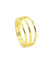 Pozłacany pierścionek trzy obrączki - pr. 925