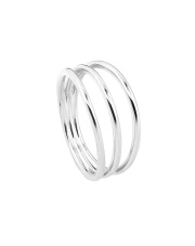 Srebrny pierścionek trzy obrączki - pr. 925