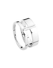 Srebrny pierścionek podwójna obrączka - pr.925
