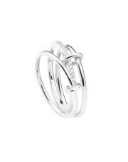 Srebrny pierścionek trzy obrączki - pr.925