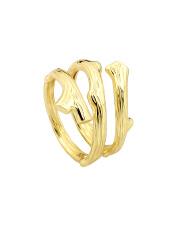 Pozłacany pierścionek gałąź - pr. 925