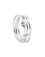 Srebrny pierścionek  potrójna obrączka - pr. 925