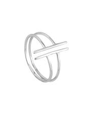 Srebrny podwójny pierścionek - pr. 925