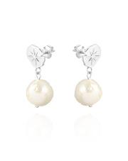 Srebrne kolczyki z perłą - pr. 925