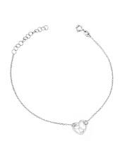 Srebrna bransoletka celebrytka ażurowe serce - pr. 925