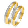 złote obrączki dwa kolory, soczewka - pr. 585