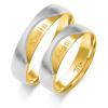 Złote obrączki ślubne, soczewka - pr 585
