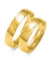 Złote obrączki love, soczewka - pr 585