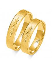 Złote obrączki diamentowane, soczewka - pr 585
