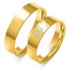 Złote obrączki Serca, soczewka - pr. 585
