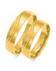 Złote obrączki, soczewka - pr. 585